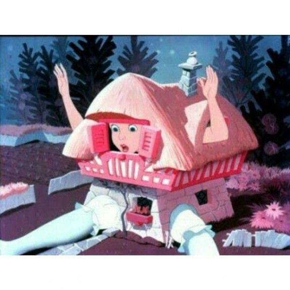 Alice stuck in the White Rabbit's house! #rabbithouses
