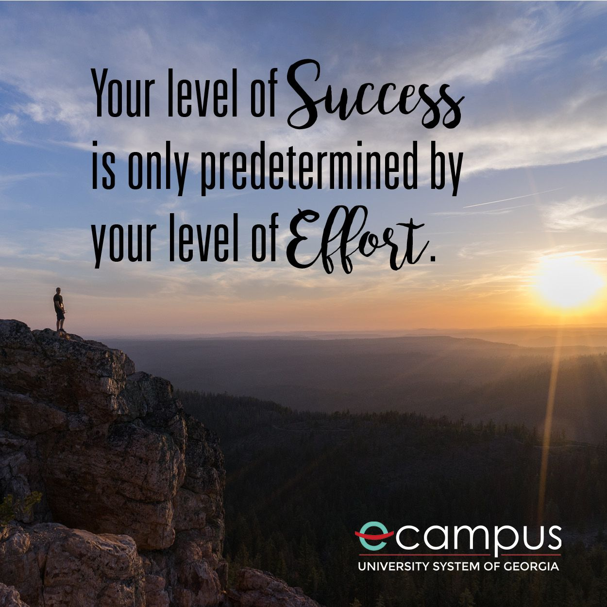 Your Level Of Success Is Only Predetermined By Your Level Of Effort Motivation Monday Wednesday Wisdom Monday Motivation Motivation University Campus