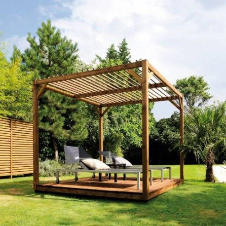 magnifique pergola en bois format cube cubik en vente chez mon abri de le. Black Bedroom Furniture Sets. Home Design Ideas