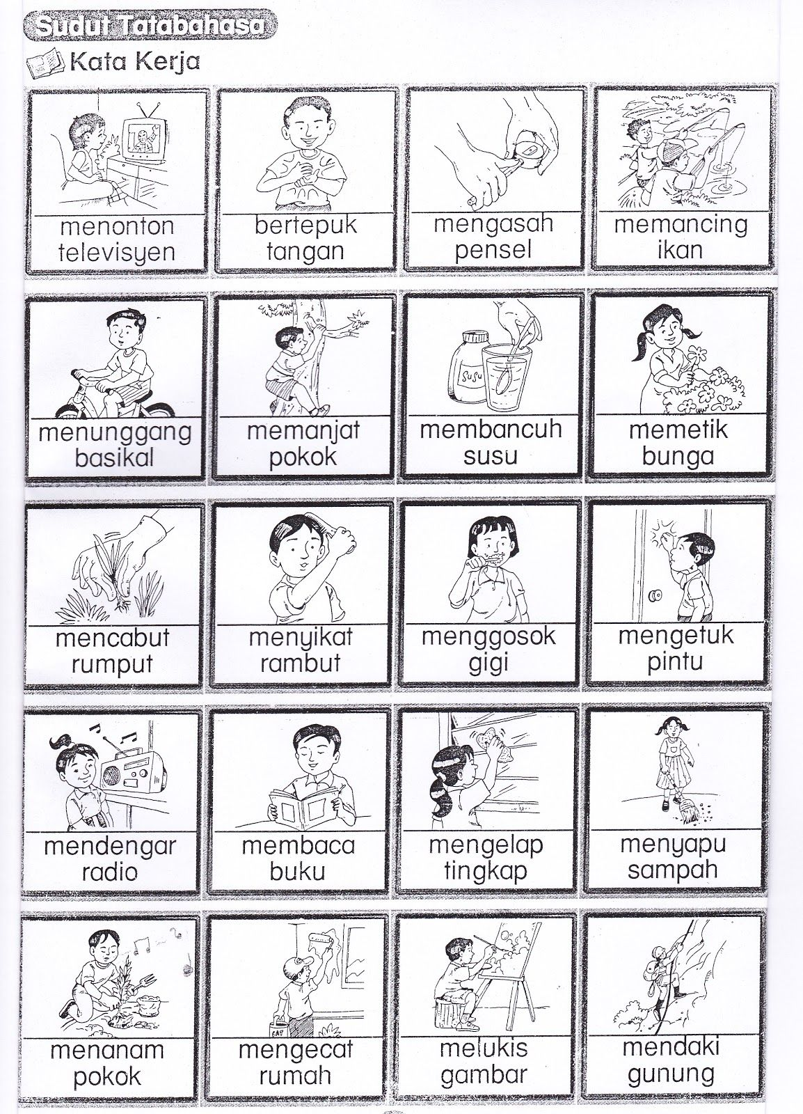 Worksheet Bahasa Indonesia Kelas 1