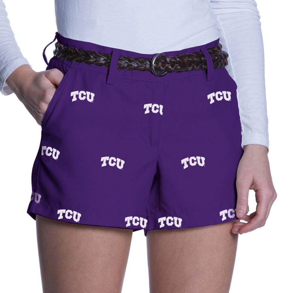 TCU Horned Frogs Women's Allover Print Gamechanger Shorts - Purple