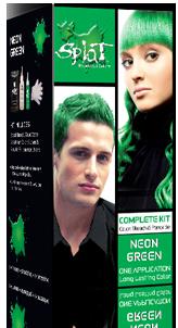 Splat Hair Neon Green
