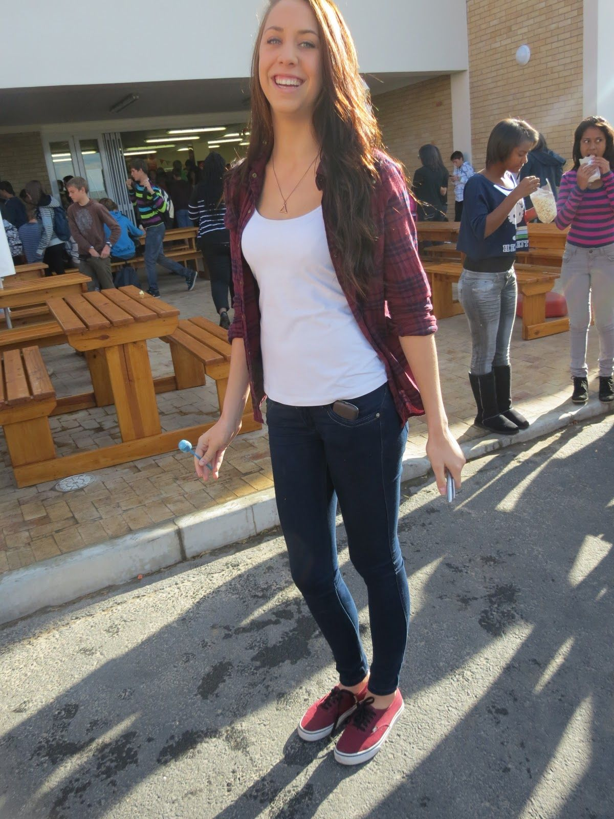 Maroon outfit