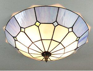 European Retro Style Tiffany Mediterranee Blue Stained Glass Flush Mount Ceiling Light Dining Room For More Information Visit Image Link
