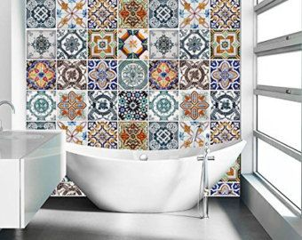 Portuguese Blue Tile Stickers Tile Decals Kitchen Backsplash Tiles For Kitchen Tiles For Bathroom Pack Of 48 Sku Bptiles