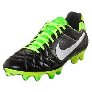 Nike Mens Tiempo Legend IV FG Soccer ShoeBlack/ElectricGreen/White