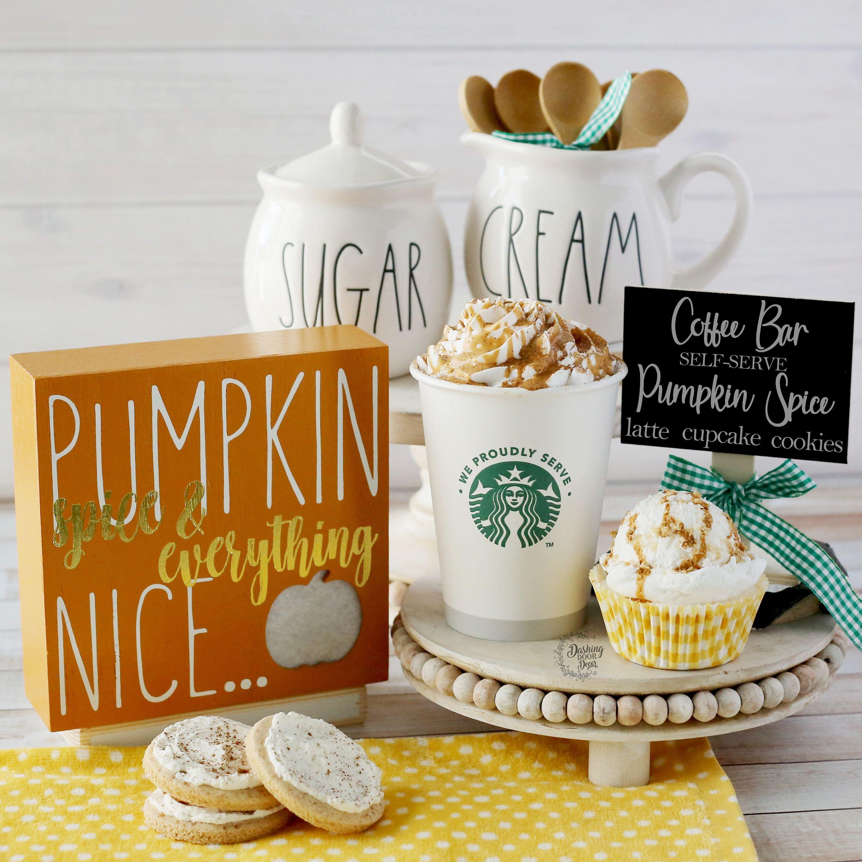 Fake coffee pumpkin spice latte drink starbucks inspired
