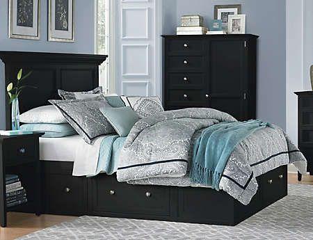 Abbott Black King Storage Bed Art Van, Art Van Abbott Queen Storage Bed