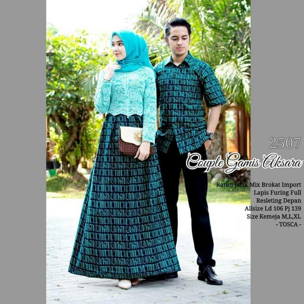 Model Gamis Batik Couple Terbaru 11  Model pakaian, Model