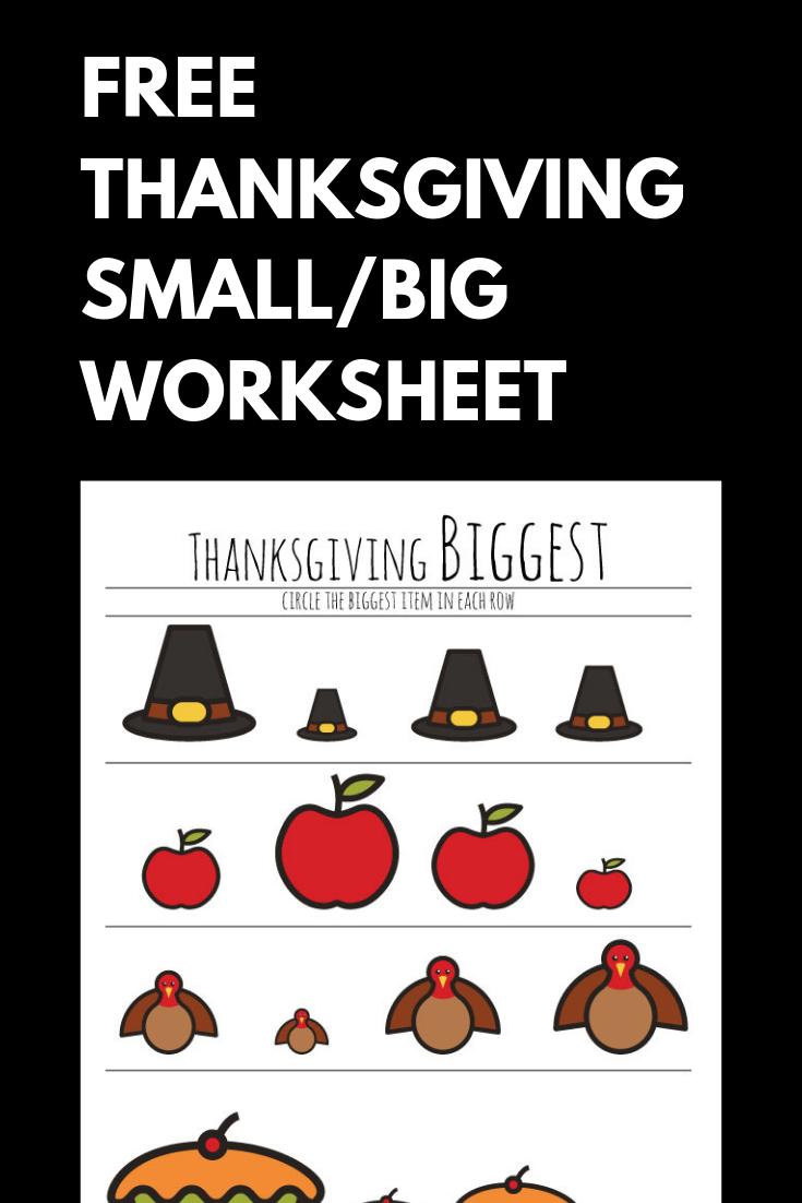 Free Preschool Thanksgiving Worksheet Teach Preschool Children The Difference B Thanksgiving Preschool Thanksgiving Worksheets Thanksgiving Learning Activities [ 1102 x 735 Pixel ]