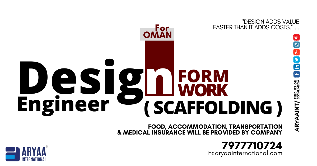 We Re Hiring Design Engineer For Oman Experience In Scaffolding