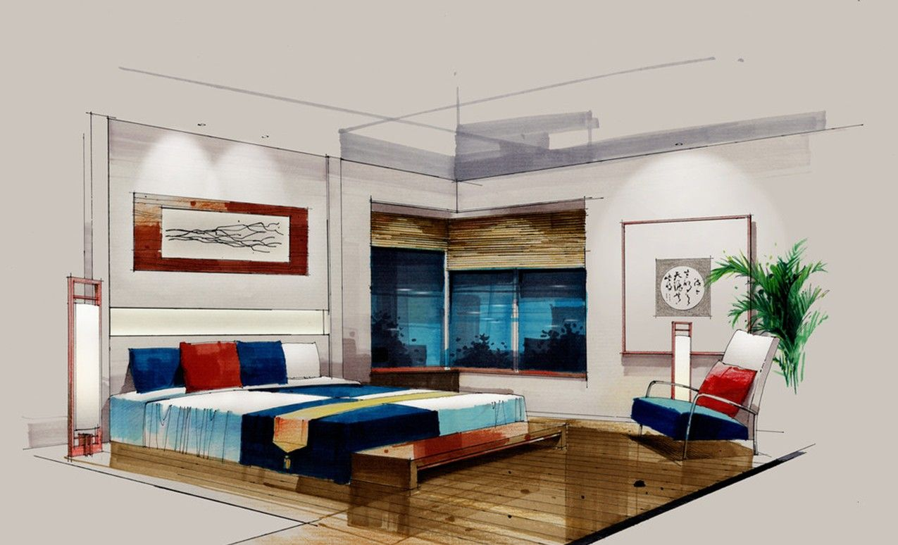 Interior Design Bedroom Sketches. Interior Design Bedroom Sketches    Căutare Google N