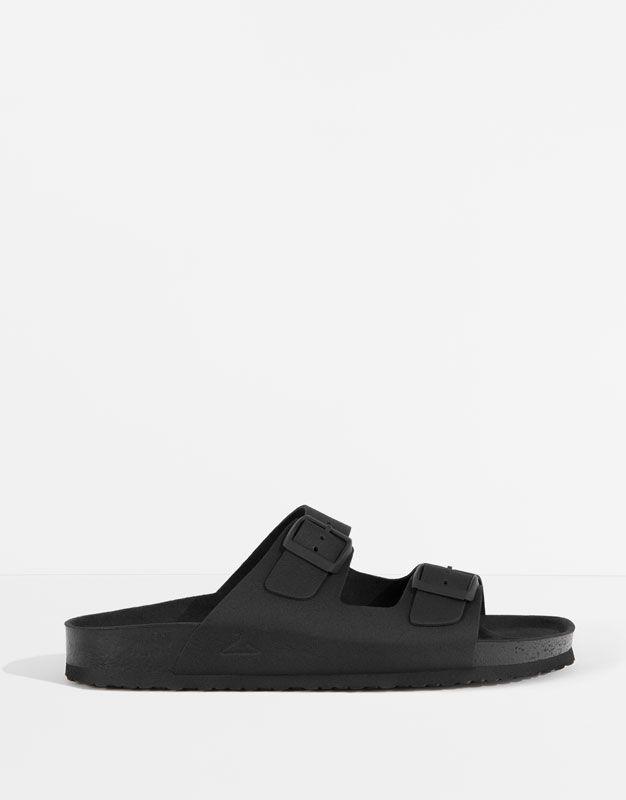 3e1dee3b038813 Chaussures Hommes Sandal Buckles Pull Noir amp; Bear qR8ttH