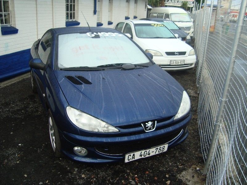 2004 Peugeot 206cc 130000km Selling for R64,995 Contact