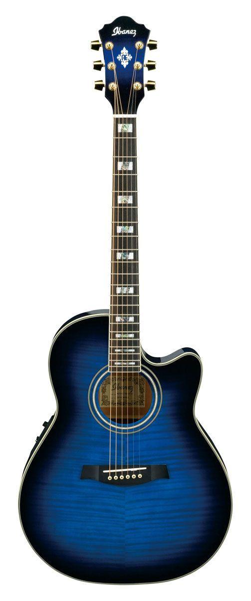 transparent blue sunburst ibanez aef30e aef cutaway acoustic electric guitar my acoustic. Black Bedroom Furniture Sets. Home Design Ideas