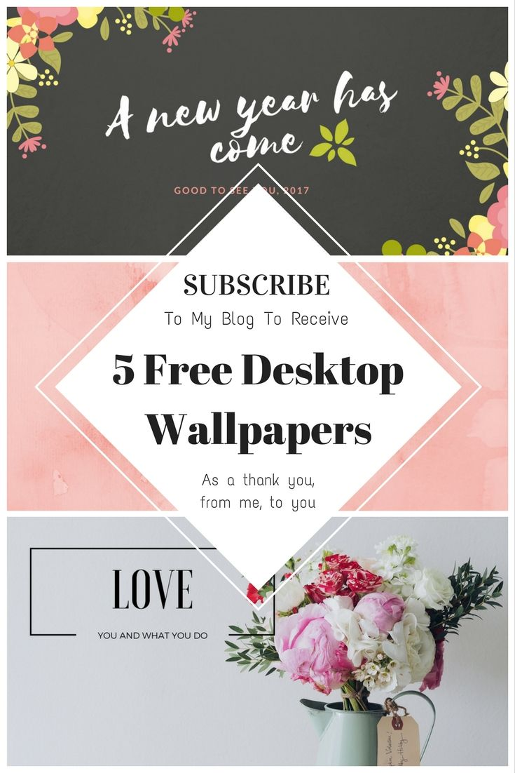 Subscribe To My Blog Receive 5 FREE SUPER CUTE DESKTOP WALLPAPERS That I