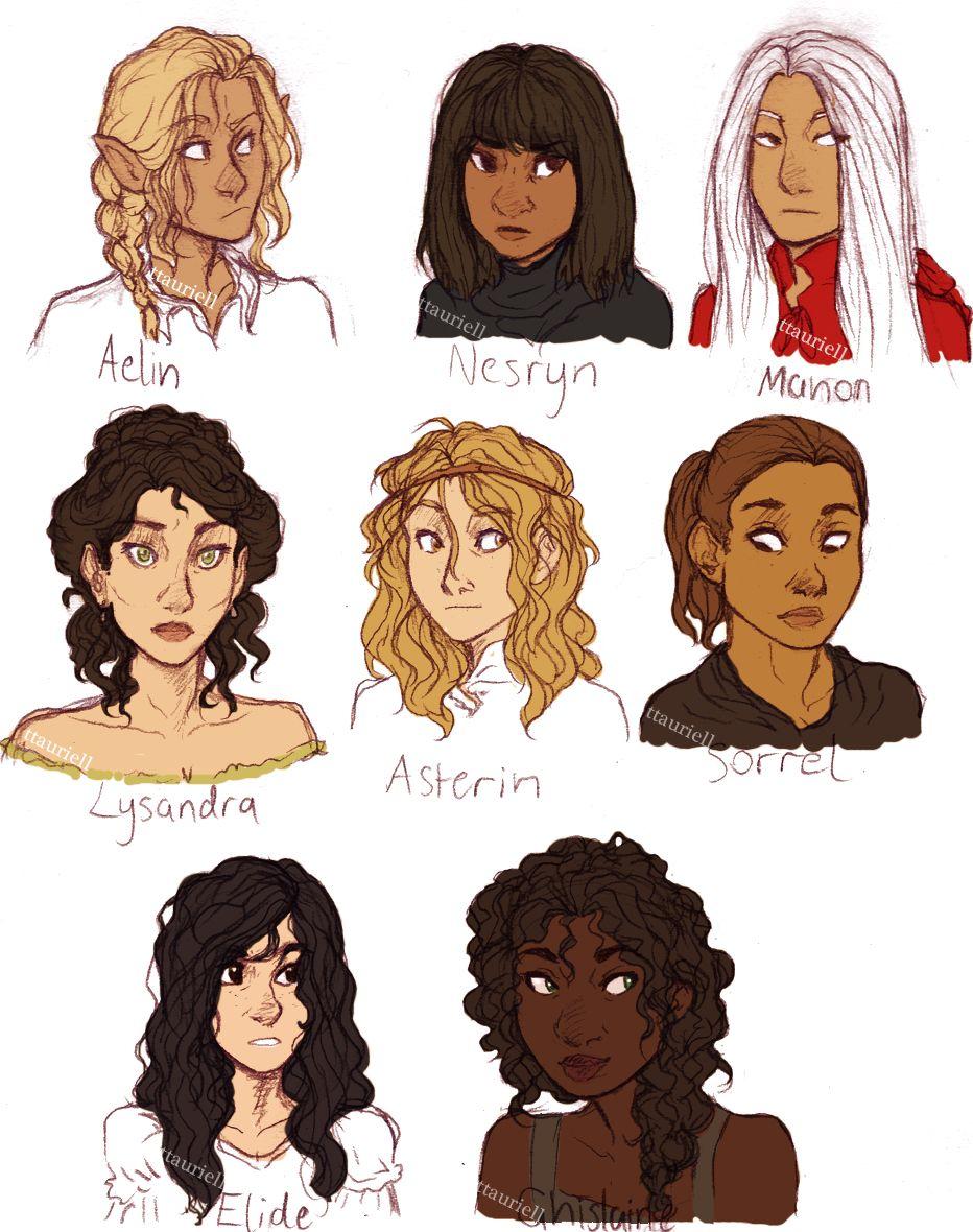 Main Ladies From Qos By Ttauriell Trono De Vidro Personagens De