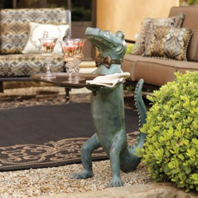 Belvedere Alligator Table Frontgate Traditional Garden Creative Decor