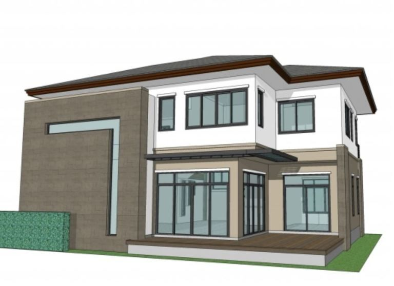 Home Design 11x15m With 4 Bedrooms Home Design With Plan Rumah Indah Denah Desain Rumah Desain Rumah Modern