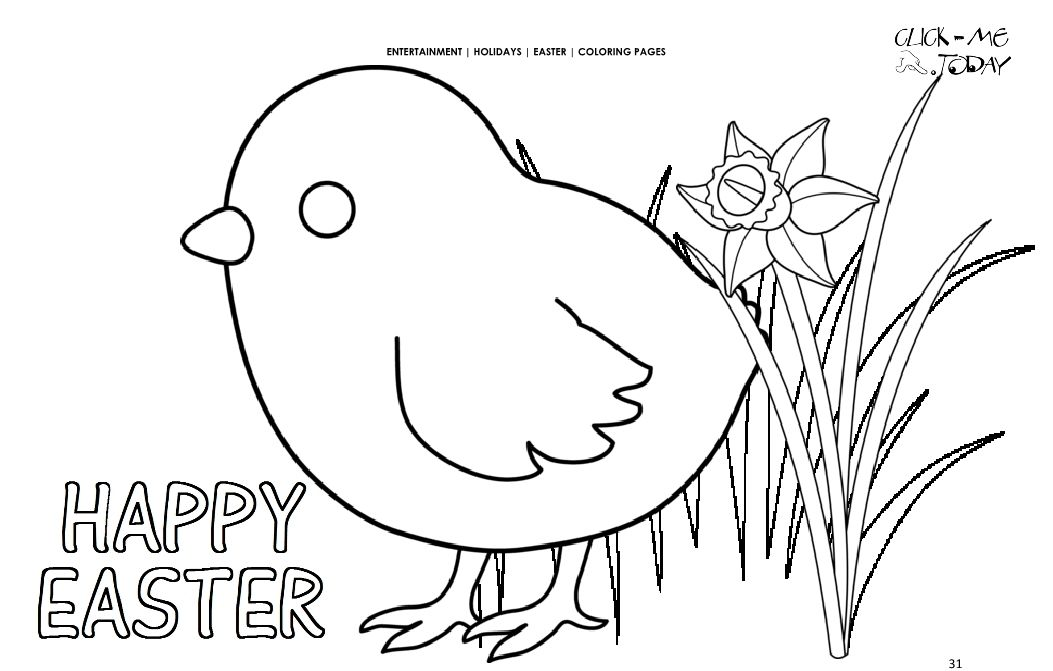 Happy Easter Coloring Pages For Kindergarten Students Kids