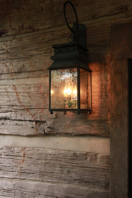 Rustic Porch Lighting