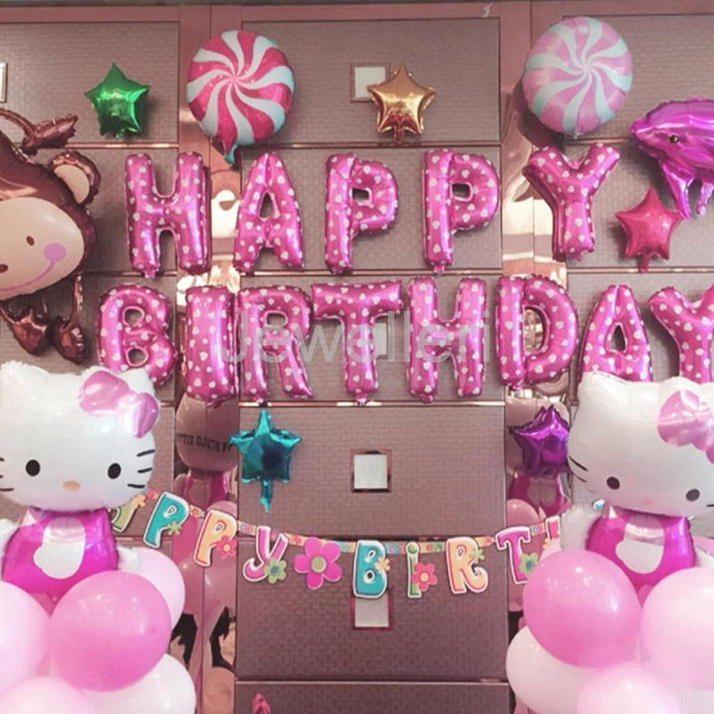 Pink Happy Birthday Letter Balloons.Details About Pink Happy Birthday 13 Letters Balloons Kid