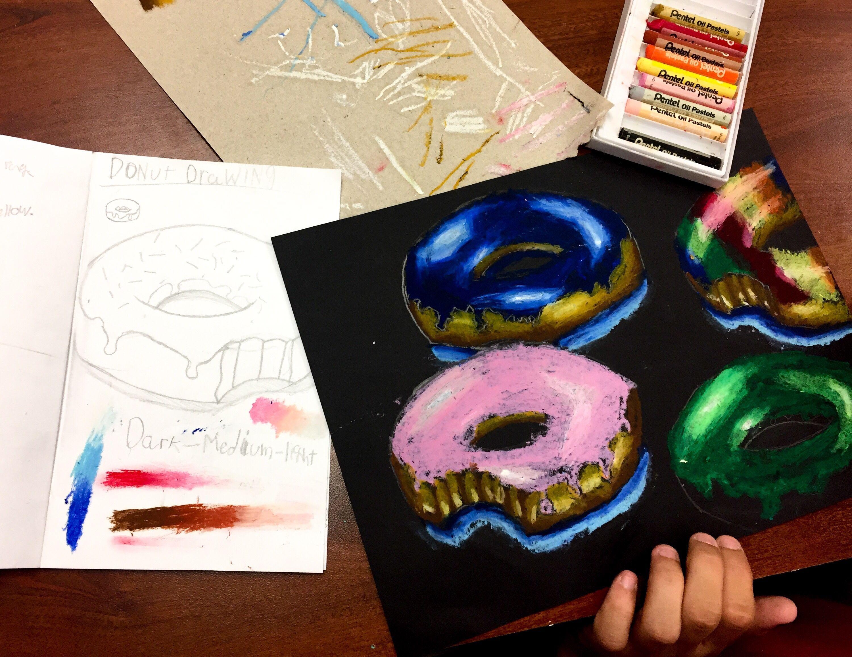Donut Oil Pastel Lesson Plan