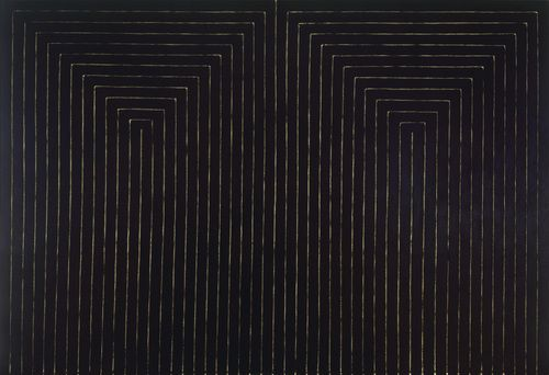 Frank stella black paintings analysis essay