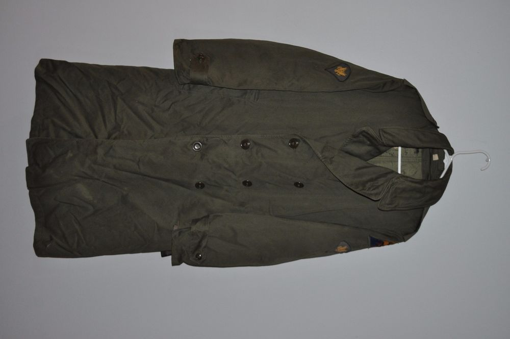 US Army 4th Armored Division Green Coat Jacket - Possibly WWII?