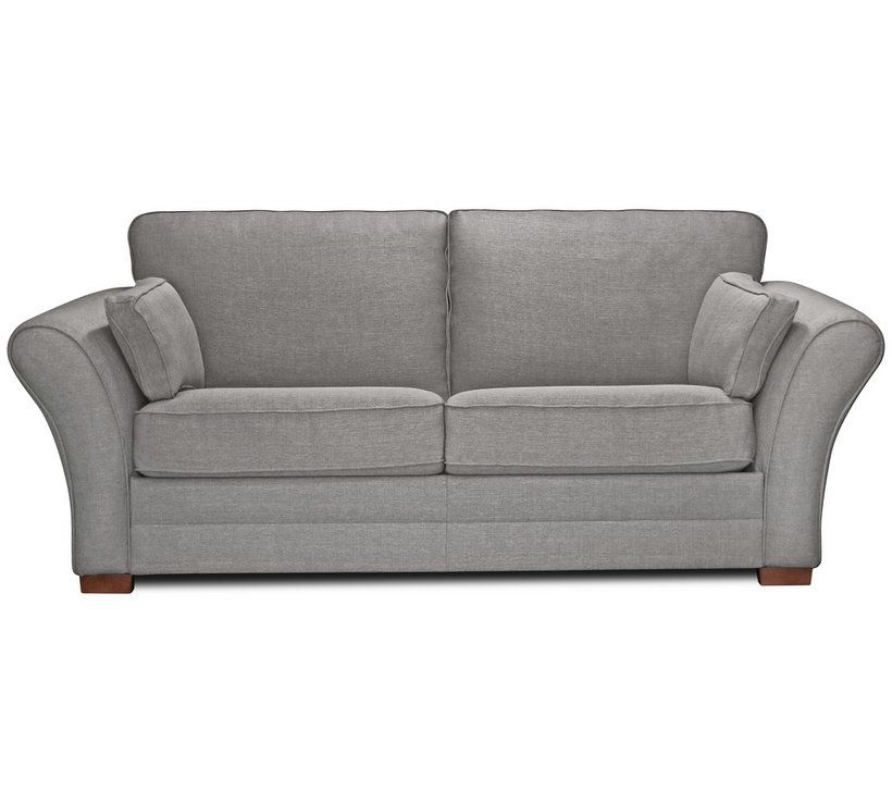 Argos Home New Thornton 3 Seater Fabric Sofa Bed Light Grey Beds Chairbeds And Futons