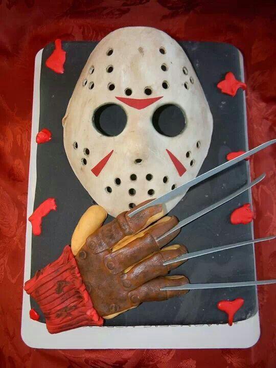 Freddy Vs Jason Birthday Cake
