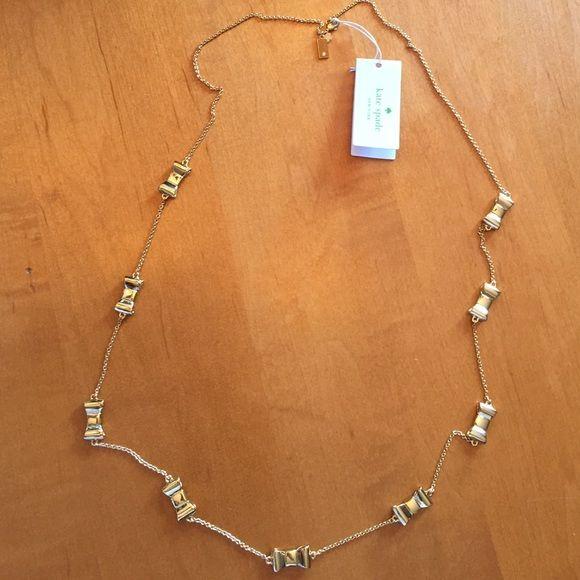 NWT Kate Spade Bow Necklace New KS long bow necklace gold kate spade Jewelry Necklaces
