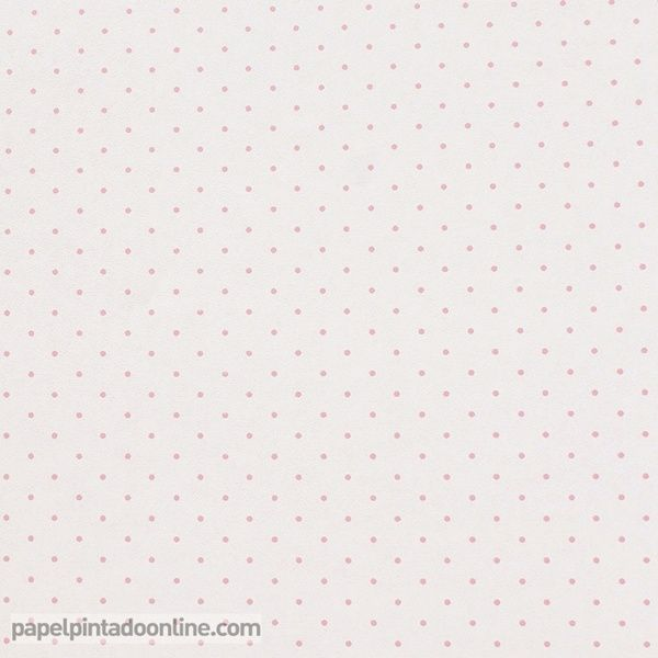 Papel pintado infantil babies 10147 con topitos en rosa for Papel pintado infantil
