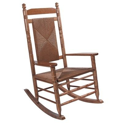 Adult Woven Seat Rocking Chair - Hardwood | Home Furniture | Indoor ...