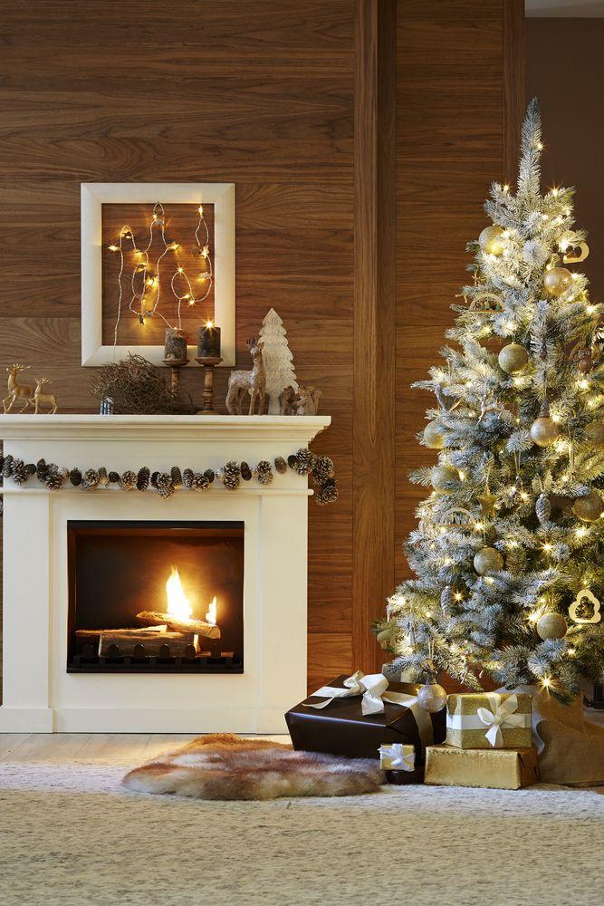 Kuschelige weihnachten am kamin mit festlicher deko von tchibo weihnachten silvester - Weihnachtsdeko wohnung ...