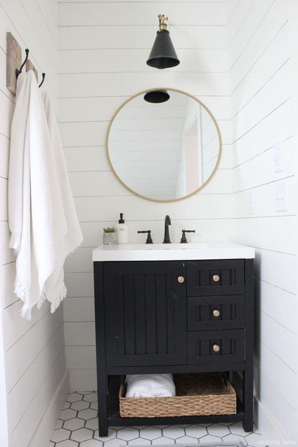 Gorgeous 77 Awesome Modern Farmhouse Bathroom Vanity Ideas Https Roomaholic Com 3 Bathroom Vanity Designs Modern Farmhouse Bathroom Farmhouse Bathroom Vanity