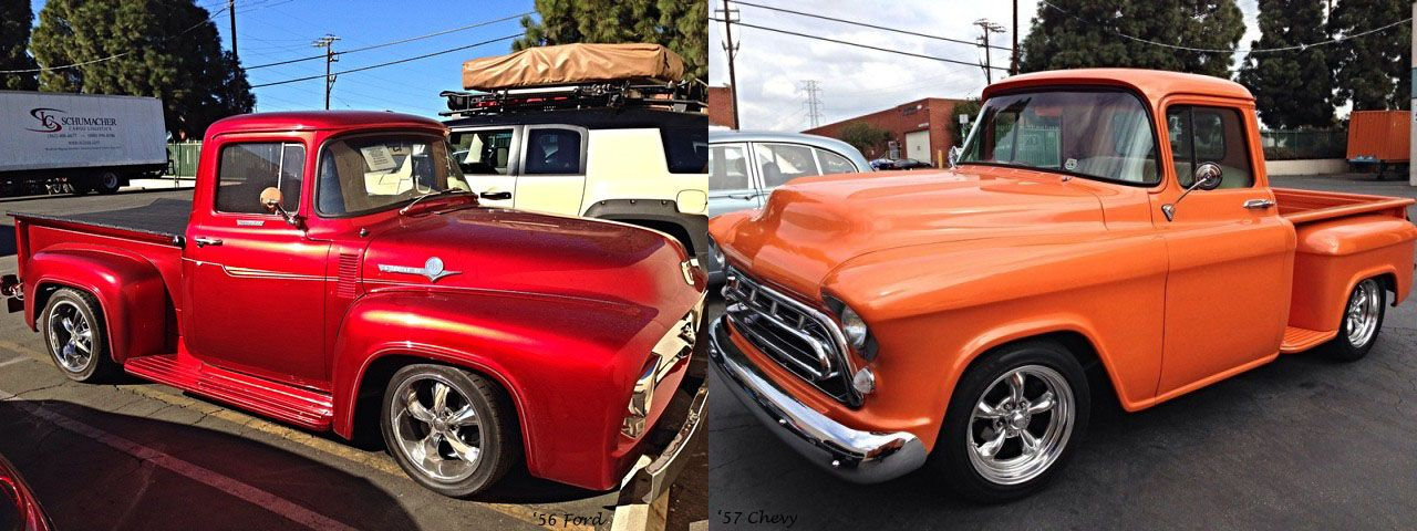 Classic Rivalry Ford Vs Chevy Two American Classics We Shipped
