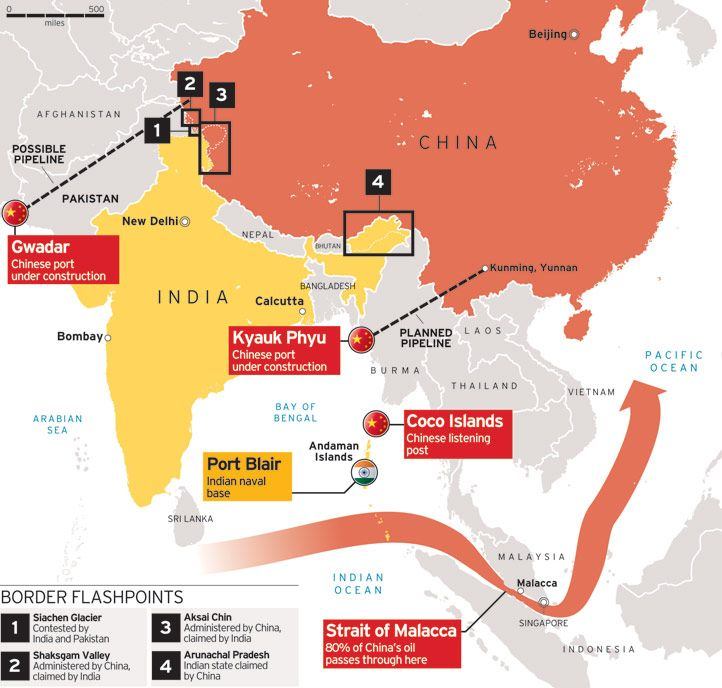 THEN AND NOW: The war we lost-INDIA VS CHINA 1962 | China ... India China Border Map on australia border map, russia border map, india border changes, spain border map, france border map, pakistan border map, western chinese border map, india china boundary map,