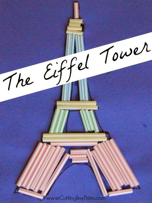 Eiffel Tower Craft | Eiffel tower craft, Preschool crafts, Crafts ...