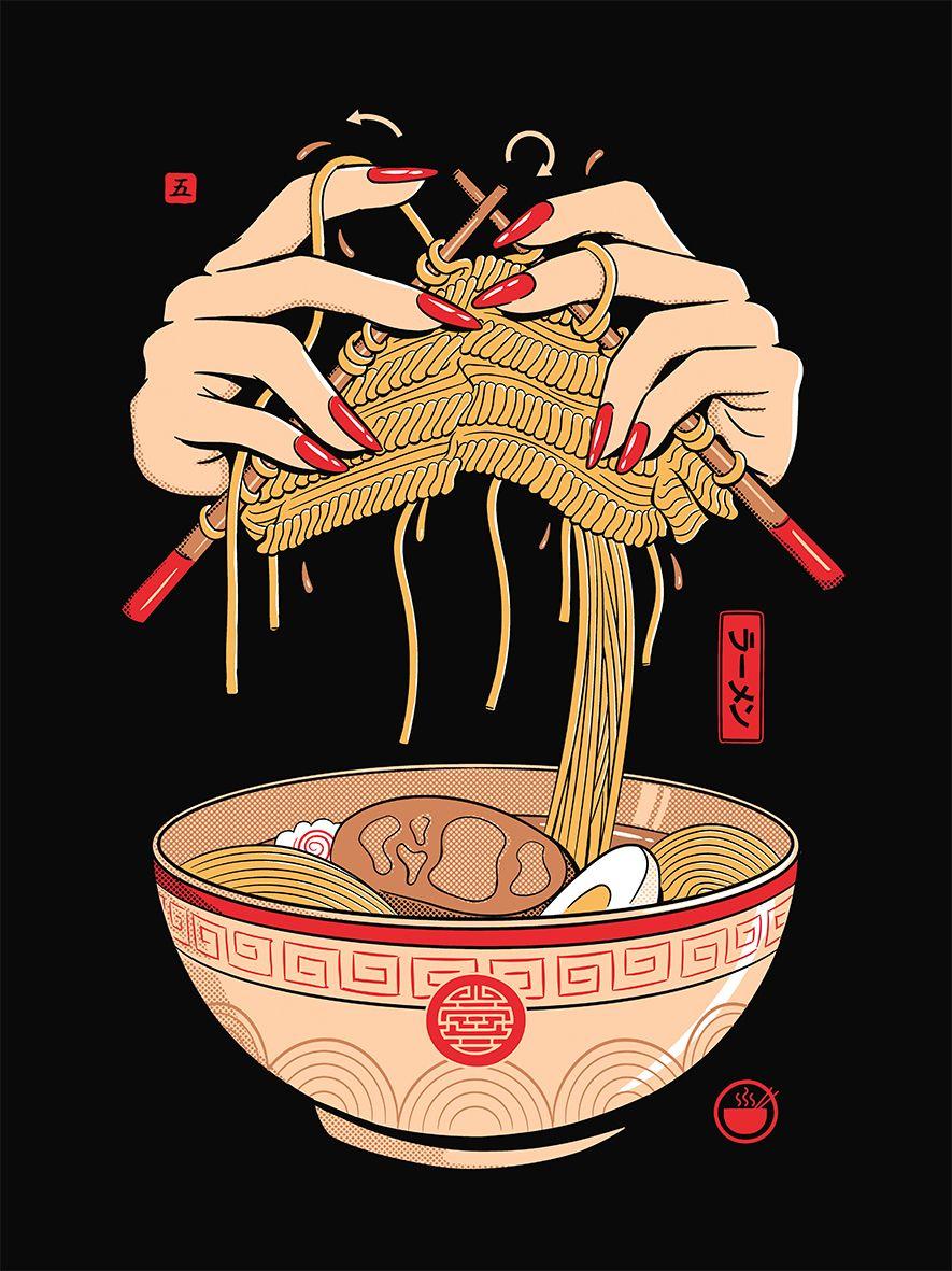 Noodle Knitting Japanese Art Modern Art Wallpaper Iphone Japanese Artwork