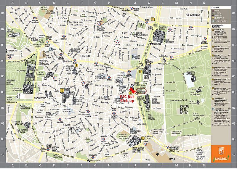 Centro De Madrid Mapa.Mapas De Madrid Espanha Espana Mapa Turistico Mapa