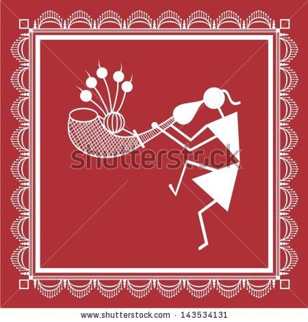 Indian tribal Painting. Warli Painting - stock vector ...