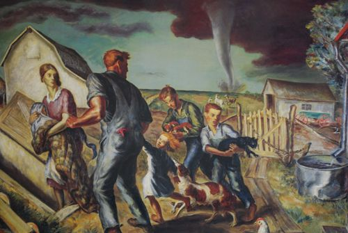 John Stuart Curry, Tornado Over Kansas