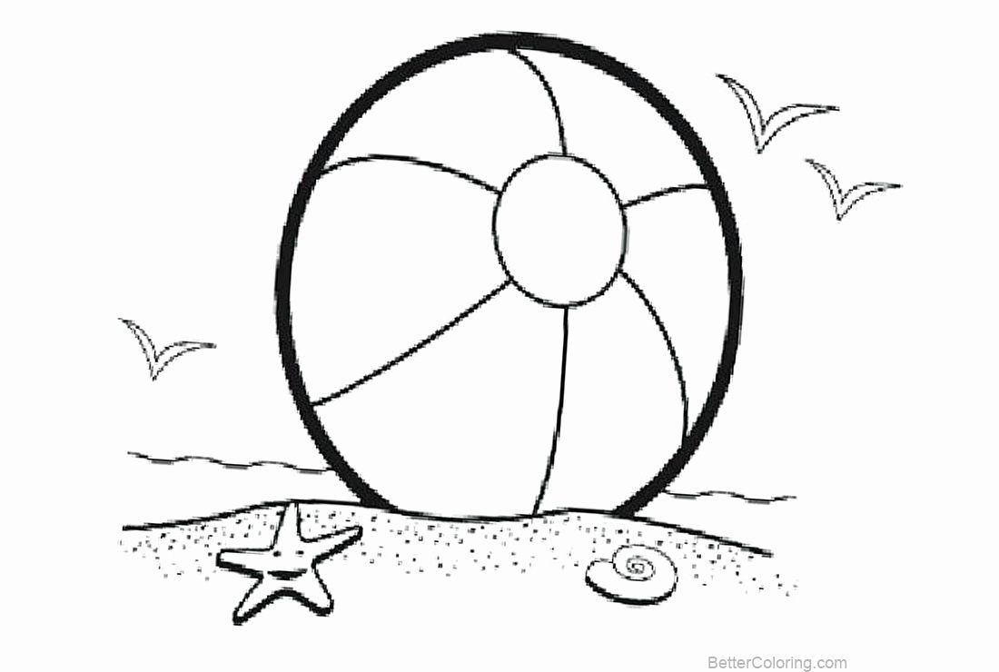 Beach Ball Coloring Page Luxury Beach Ball Coloring Pages With Starfish And Birds Free Flag Coloring Pages Coloring Pages Family Coloring Pages
