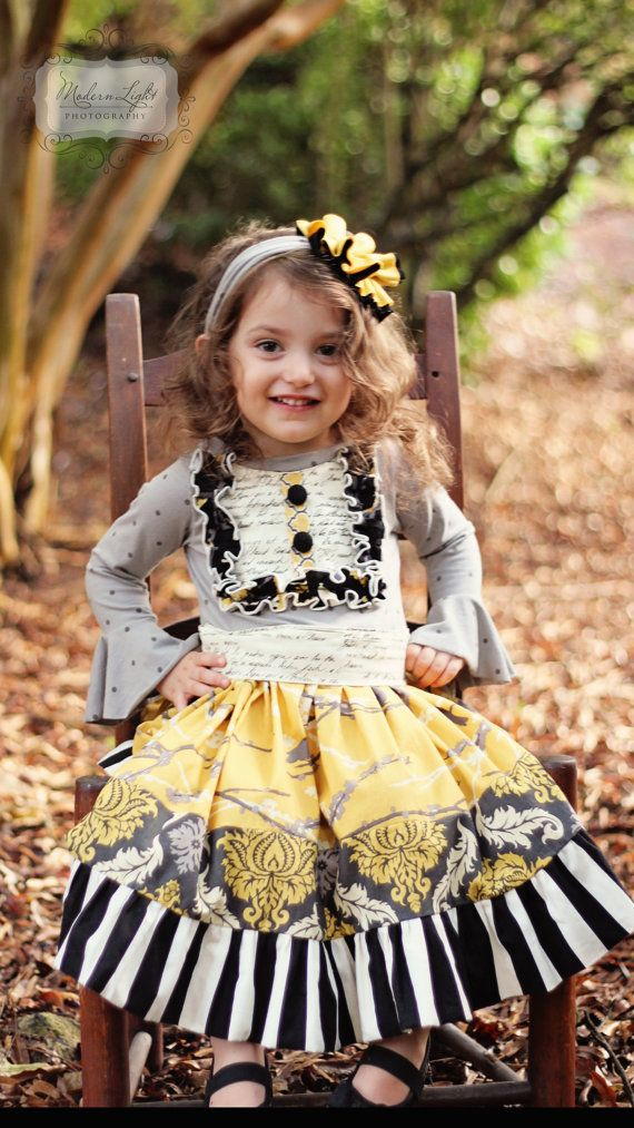 Maggie Girls skirt M2M skirt coordinating by MarmaladeClothing