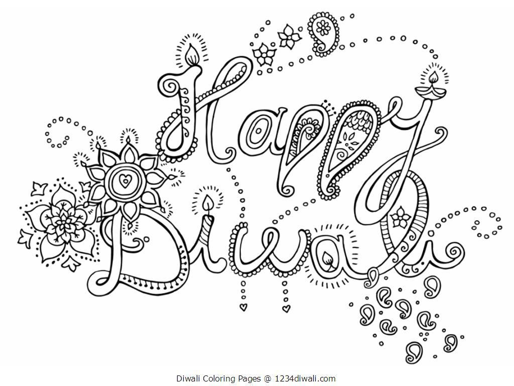 indian diwali coloring pages - photo#9