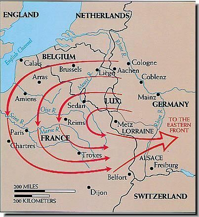 The Schlieffen plan; A map of the Schlieffen plan explained ... on treaty of brest-litovsk map, unrestricted submarine warfare map, marshall plan map, triple alliance map, plan 17 map, communism map, trench warfare map, beer hall putsch map, military strategy map, triple entente map, citadel map, european union map, yalta conference map, blitzkrieg map, league of nations map, industrial revolution map, battle of jutland map, holocaust map, battle of the somme map, soviet deep battle map,