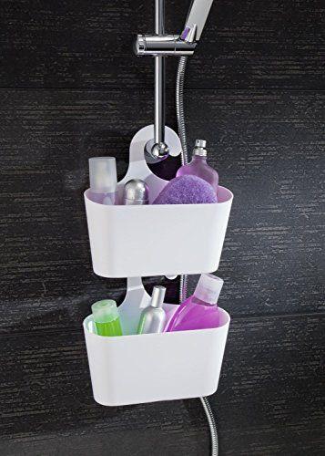 Wohnideenshop Duschkorb Mit Haken Zum Einhangen Weiss Und 15 Anderen Farben Zum Auswahlen Duschkorb Dusche Duschregal