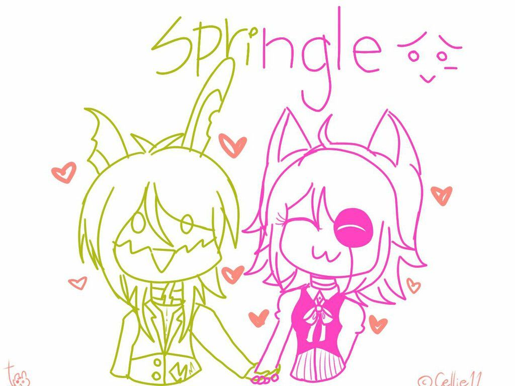 Mangle n Springtrap by Cellie11 on DeviantArt