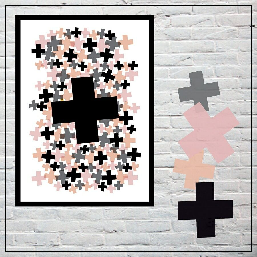 May & Belle print w customisable colours http://www.mayandbelle.com.au/CANDY-CROSSES-30x40cm_p_182.html
